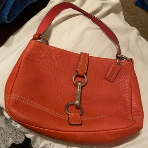 COACH #F13086 CORAL Pebbled Leather